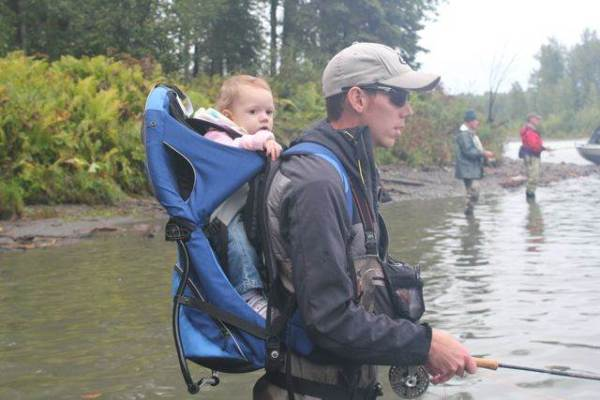 fly fishing baby